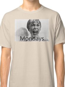 Hitchcock hates mondays. Classic T-Shirt