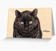 Black cats are best! Greeting Card