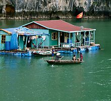 House Boat Halong Bay by Heather Walker
