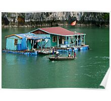 House Boat Halong Bay Poster