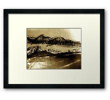 desert brush.... Framed Print