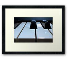 Note That Key - Synthesizer Keyboard Framed Print