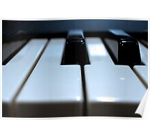 Note That Key - Synthesizer Keyboard Poster