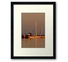 Portarlington Pier, Sunset Framed Print