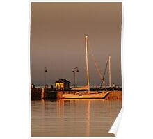 Portarlington Pier, Sunset Poster