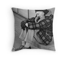 Down and out... Throw Pillow