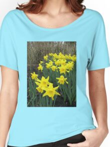 Daffodils in Woodland Women's Relaxed Fit T-Shirt
