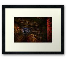 Sly Cured Pig Goes Underground Framed Print
