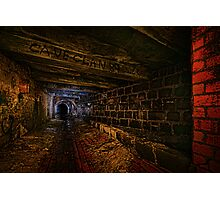 Sly Cured Pig Goes Underground Photographic Print