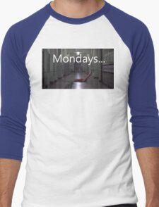 Freddy hates mondays. Men's Baseball ¾ T-Shirt