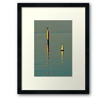 Three Markers Framed Print