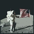 Apollo 11 - Salute the flag by INFIDEL