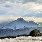 Taranaki under snow by KateMatheson
