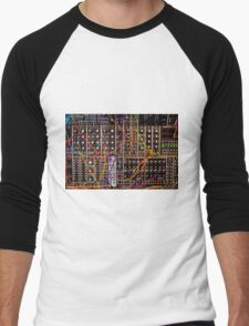 Moog Modular Synthesizer Control Panel Men's Baseball ¾ T-Shirt