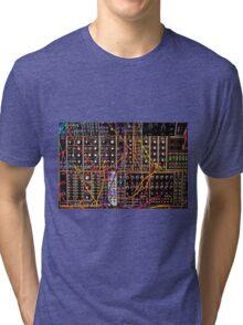 Moog Modular Synthesizer Control Panel Tri-blend T-Shirt