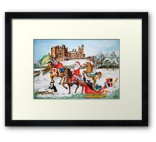 Santa tours Sussex - Arundel Framed Print
