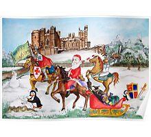 Santa tours Sussex - Arundel Poster