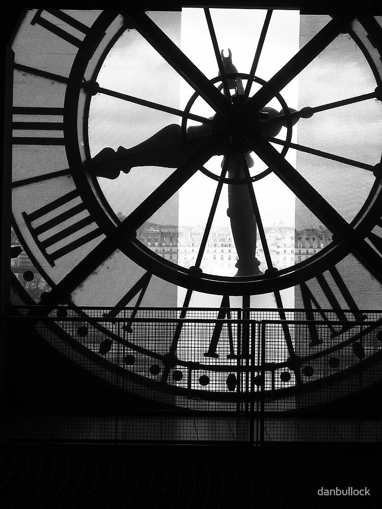 Musee D'Orsay Black & White Clock by danbullock