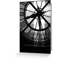 Musee D'Orsay Black & White Clock Greeting Card