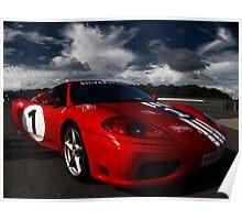 Ferrari 360 Racing Red.  Poster