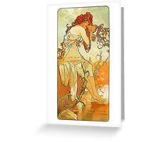 Alphonse Mucha - Summer Greeting Card