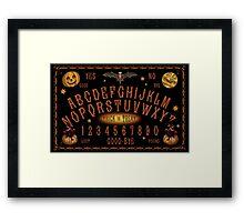 Vintage-style Halloween Talking Board Framed Print