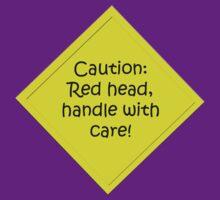 Caution redhead by Jon Lees