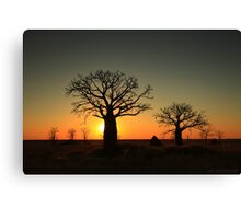 Sunset on the flats Canvas Print