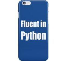 Fluent in Python - White on Blue for Python Programmers iPhone Case/Skin