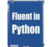 Fluent in Python - White on Blue for Python Programmers iPad Case/Skin