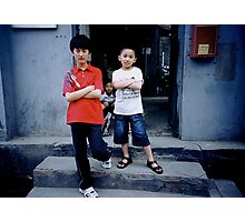 Hutong Kids Photographic Print