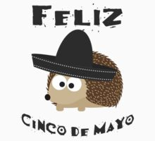 Feliz Cinco De Mayo Hedgehog Kids Tee