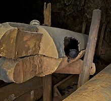 Prehistoric teak coffins and pottery, Skull Cave, Thailand by John Spies