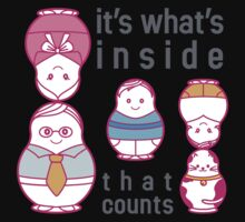 It's what's inside that counts Kids Tee