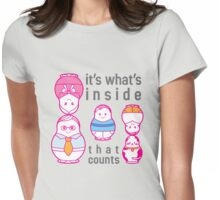 It's what's inside that counts Womens Fitted T-Shirt