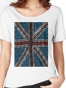 The Union Jack of Paper Clips! Women's Relaxed Fit T-Shirt