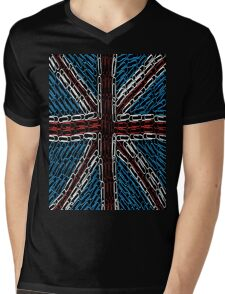 The Union Jack of Paper Clips! Mens V-Neck T-Shirt