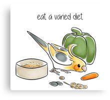 Eat a Varied Diet Canvas Print