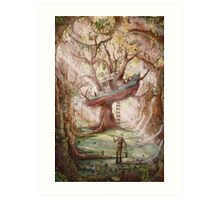Fisherman of the Forest Art Print