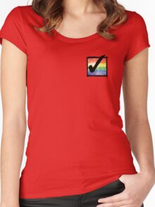 Gay? Tick! Women's Fitted Scoop T-Shirt