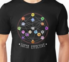 Pokemon Super Effective Type Chart Unisex T-Shirt