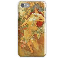 Alphonse Mucha - Autumn iPhone Case/Skin