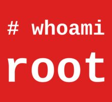 whoami root - White on Black for System Administrators Baby Tee