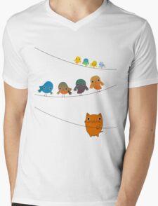 Cat Climbing Mens V-Neck T-Shirt