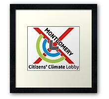 Montgomery Citizens Climate Lobby (diagonal) Framed Print