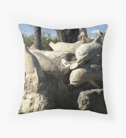 Memories Carved in Stone Throw Pillow