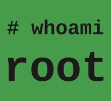 whoami root - Black on White for System Administrators Baby Tee