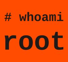 whoami root - Black on White for System Administrators Kids Clothes