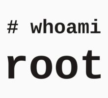 whoami root - Black on White for System Administrators One Piece - Long Sleeve