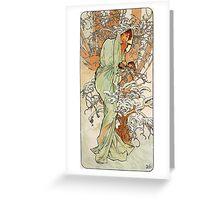 Alphonse Mucha - Winter Greeting Card